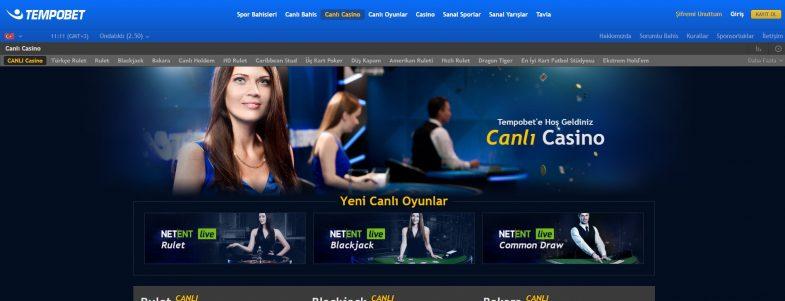 Tempobet Casino Bonusları